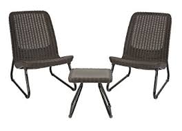 Break Room Table And Chairs by Amazon Com Keter Rio 3 Pc All Weather Outdoor Patio Garden