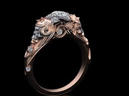 these subtle skull engagement rings will be the of me