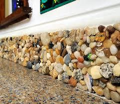 The Backsplash In Amanda Edwards Falmouth Kitchen Is Made From - Seashell backsplash