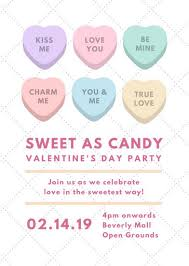 candy for s day sweet as candy s day party flyer templates by canva