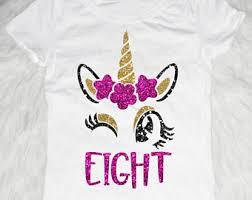 Unicorn Birthday Meme - 8th birthday shirt etsy