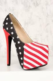 American Flag Shoes American Flag Patriotic Platform Pump Ami Clubwear High Heels