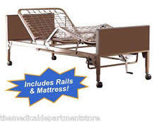 Invacare Hospital Beds Invacare 5490ivc Motorized Hospital Bed With Side Rails Ebay