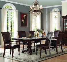 7 dining room set homelegance lordsburg 7 pedestal dining room set in
