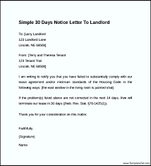 30 days notice letter to landlord 8 30 days notice letter to
