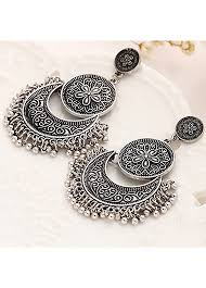 metal earings metal shape flower curved black earrings linkshe usd