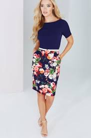 paper dolls navy floral printed dress with belt paper dolls from