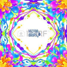 bright rainbow colors vector paint splash firework royalty free