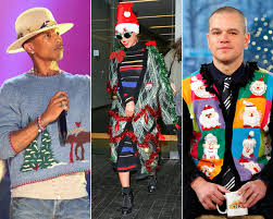 celebrities wearing ugly christmas sweaters instyle com