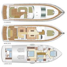 Luxury Yacht Floor Plans by Majesty 56 Legendary Hull Designs Gulf Craft Inc