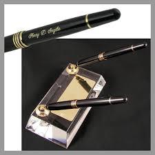 Engraved Office Gifts Crystal Double Pen Engraved Pen Desk Set U2013 The Desk Works