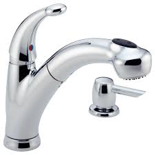 delta kitchen faucet warranty 468 sd dst single handle pull out kitchen faucet with soap dispenser