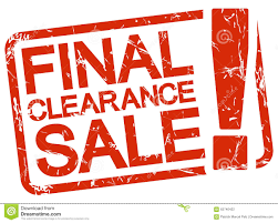 st with text clearance sale stock vector image
