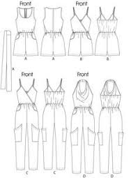 jumpsuit stitching pattern free printable sewing patterns jumpsuits in 2 lengths and