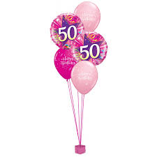 50th birthday flowers and balloons 50th birthday balloons party favors ideas