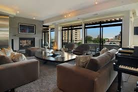 Living Room With Black Leather Furniture by Apartment Fabulous Modern Asian Style Apartment Interior Design