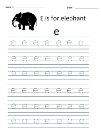 kindergarten worksheets alphabet tracing worksheets e