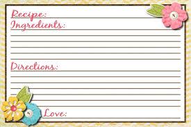 free printable recipe card template best template u0026 design images