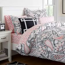 Gray Paisley Duvet Cover Ana Paisley Duvet Cover Full Queen Black Pink Room For New
