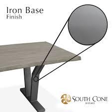 Iron Base Dining Table Dakota Live Edge Dining Table
