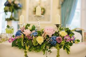 Table Flowers by Wedding Reception Flowers Laurel Weddings