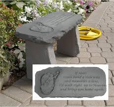 Engraved Garden Benches Small Memorial Angel Garden Bench