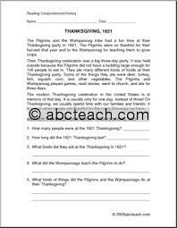 number names worksheets free thanksgiving reading comprehension