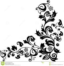 corner with flower ornament royalty free stock photos image 5902198
