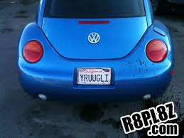 Ideas For Vanity Plates Yruugli In California With Hundreds Of Others At R8pl8z Com