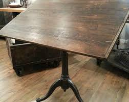 Old Drafting Table Vintage Industrial Antique Drafting Table