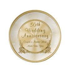 50th anniversary gold plate stunning personalised gold 50th anniversary gifts porcelain plate