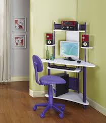 Ladder Style Computer Desk by Triangle Corner Table For Computer Holder With Single Drawer And