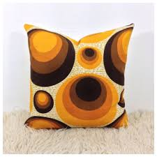 Retro Home Decor Uk Vintage 70s Retro Psychedelic Fabric Cushion Cover Handmade