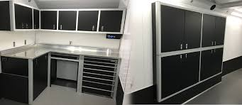V Nose Enclosed Trailer Cabinets by Trailer Cabinets