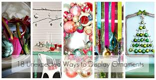 18 ways to display ornaments ideas