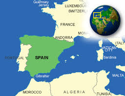 maps of spain map of spain terrain area and outline maps of spain countryreports