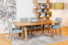 trestle solid american oak contemporary dining table bespoke