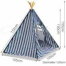 Kids Teepee by Kids Teepee Tent Children Home Canvas Pretend Play Playhouse Tipi