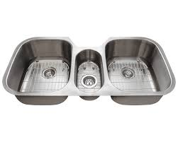 Mr Direct Sinks And Faucets 4251 Triple Bowl Stainless Steel Sink
