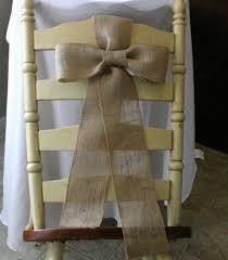 Burlap Chair Sash Burlap Chairs Sash Burlap Wedding Decor Shabby Chic Country