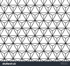 New Modern Black And White by Seamless Geometric Pattern Repeating Image Vector Stock Vector