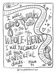 recount psalm 9 1 printable bible coloring english