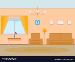 cartoon living room background cartoon background living room royalty free vector image