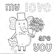 elephant love coloring page elephant in love my love coloring pages getcoloringpages org