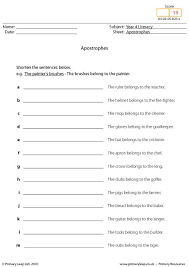 apostrophe worksheet free worksheets library download and print