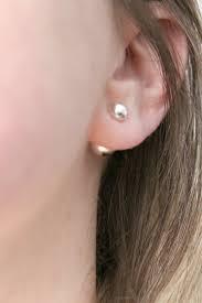 front and back earrings sterling silver front back stud earrings wear two ways meg