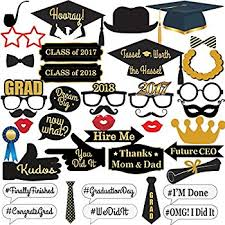 graduation party supplies 2017 graduation photo booth props no diy required