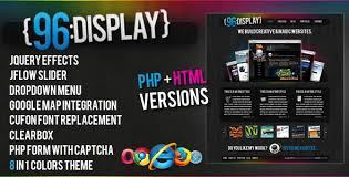 96 display u2013 themeforest html u0026 php site template html u0026 others
