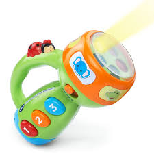 amazon com vtech spin and learn color flashlight lime green