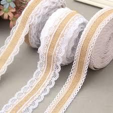 rustic ribbon 10m burlap lace ribbon rustic jute burlap roll wedding